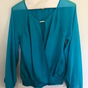 Teal Blue Marciano Blouse